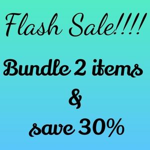 Flash Sale! Bundle 2 items and save 30%